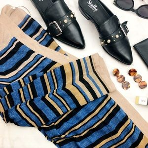 Shimmer Stripe Lightweight Sheer Open Cardigan